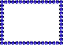 Picture frame Blue water drops. On white Royalty Free Stock Photo