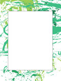 Picture frame or border. Modern picture frame or border made from green splashes Stock Photos