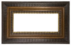 Picture Frame Brown (Path Included) Royalty Free Stock Image