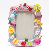 Picture frame with candy Royalty Free Stock Photography