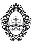 Picture frame with chandelier Royalty Free Stock Images