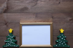 Picture Frame With Christmas Tree And Copy Space Royalty Free Stock Images