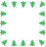 Picture frame.  Christmas trees Royalty Free Stock Images
