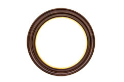 Picture Frame Circle Baget On White Background Royalty Free Stock Image