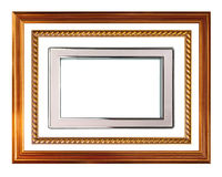 Picture frame collection. Isolated on white Stock Images