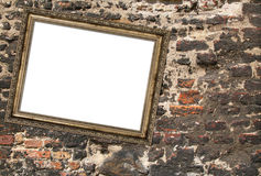 Picture frame crookedly hung Royalty Free Stock Photography