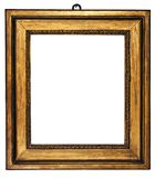 Picture Frame Cubic Gold (Path Included). Cubic, gold plated empty picture frame for putting your pictures in. Clipping path included stock image