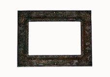 Picture frame, dark/square. A dark stained picture frame with embellishment royalty free stock image