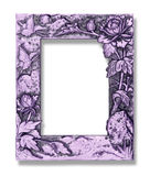 Picture frame with a decorative pattern on white background Stock Image