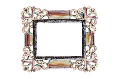 Picture frame. Decorative picture frame on white with clipping path Royalty Free Stock Images