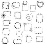 Picture frame drawing set vector on white isolated Stock Image