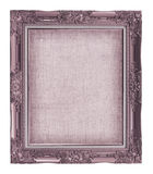 Picture frame with empty grunge linen canvas for your picture Stock Images