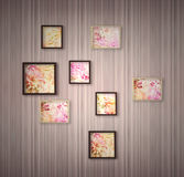 Picture frame with flowers Royalty Free Stock Images
