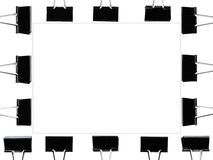 Picture frame by fold black clip with square line inside Royalty Free Stock Photography