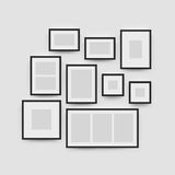 Picture frame gallery set for photographs Royalty Free Stock Photo