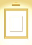 Picture frame gold Stock Photos
