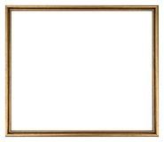 Picture Frame. Gold colored picture frame isolated royalty free stock image