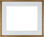 Picture Frame. Gold colored picture frame with mat stock photos