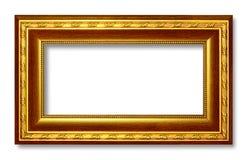 Picture frame gold dark tones wood frame Stock Images
