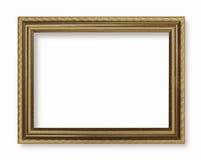 Picture frame gold dark tones wood frame Stock Image