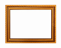 Picture frame gold dark tones wood frame Royalty Free Stock Image
