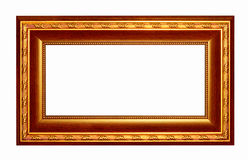 Picture frame gold dark tones wood frame Royalty Free Stock Images