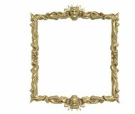 Picture Frame. Gold Picture Frame with gold decoration Stock Photo