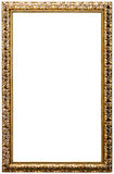 Picture frame, golden color (No#11). Picture frame, golden color, isolated on white Stock Photos