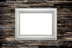 Picture frame on the granite wall. Vintage background Royalty Free Stock Photography