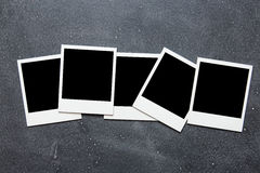 Picture frame on gray background Royalty Free Stock Photos