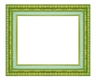 Picture Frame. Green vintage frame isolated on white background Stock Images
