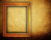 Picture frame on grunge wall vector illustration