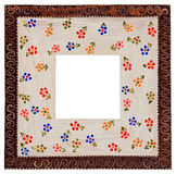 Picture frame - handmade. Unique handmade picture frame with flower motif Stock Photo