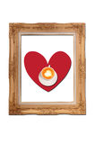 Picture frame with heart inside Royalty Free Stock Image