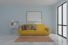 Picture frame interior room design 3d render stock image