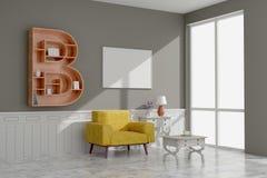 Picture frame interior room design 3d render royalty free stock image