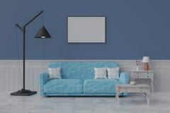 Picture frame interior room design 3d render royalty free stock images