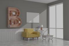 Picture frame interior room design 3d render stock photos