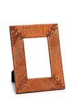 Picture frame isolated. On the  white background Royalty Free Stock Photography