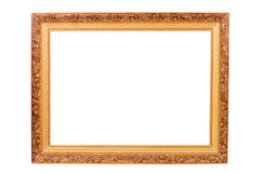Picture frame isolated on the white Stock Photos