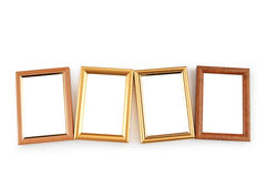 Picture frame isolated on the white Royalty Free Stock Photos
