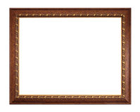 Picture frame isolated on white Royalty Free Stock Photography