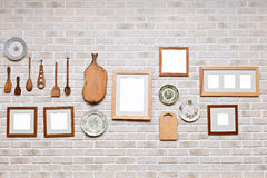 Picture frame in kitchen wall Stock Photography
