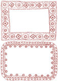 Picture frame and lace frame. Royalty Free Stock Photo
