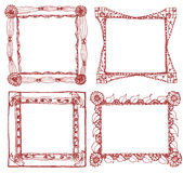 Picture frame and lace frame. Royalty Free Stock Photography