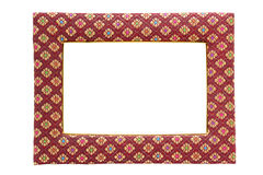 Picture frame made of fabric isolated. On white Royalty Free Stock Photography