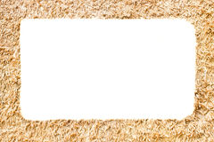 Picture frame made of rice chaff Royalty Free Stock Photo