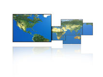 Picture Frame Map. Paneled map with the United States frame the largest Stock Images