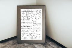 Picture frame with mathematical formulas Royalty Free Stock Images