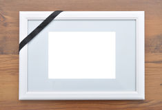 Picture frame with mourning band Royalty Free Stock Photography